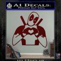 Dead Fool Heart Decal Sticker Dark Red Vinyl 120x120