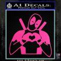 Dead Fool Heart Decal Sticker Hot Pink Vinyl 120x120