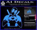 Dead Fool Heart Decal Sticker Light Blue Vinyl 120x97