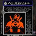Dead Fool Heart Decal Sticker Orange Vinyl Emblem 120x120