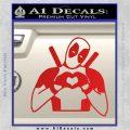 Dead Fool Heart Decal Sticker Red Vinyl 120x120