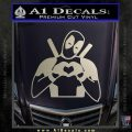 Dead Fool Heart Decal Sticker Silver Vinyl 120x120