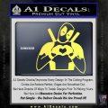 Dead Fool Heart Decal Sticker Yelllow Vinyl 120x120