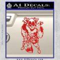Dead Fool TNT Decal Sticker Red Vinyl 120x120