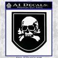 Death Skull Badge Decal Sticker Black Logo Emblem 120x120