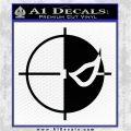 Deathstroke emblem DLB Decal Sticker Black Logo Emblem 120x120