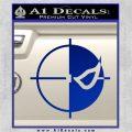 Deathstroke emblem DLB Decal Sticker Blue Vinyl 120x120