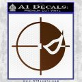 Deathstroke emblem DLB Decal Sticker Brown Vinyl 120x120