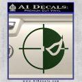 Deathstroke emblem DLB Decal Sticker Dark Green Vinyl 120x120