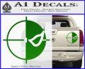Deathstroke emblem DLB Decal Sticker Green Vinyl 120x97