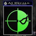 Deathstroke emblem DLB Decal Sticker Lime Green Vinyl 120x120