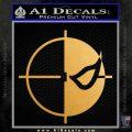 Deathstroke emblem DLB Decal Sticker Metallic Gold Vinyl Vinyl 120x120