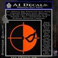 Deathstroke emblem DLB Decal Sticker Orange Vinyl Emblem 120x120