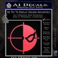 Deathstroke emblem DLB Decal Sticker Pink Vinyl Emblem 120x120