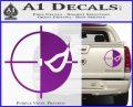 Deathstroke emblem DLB Decal Sticker Purple Vinyl 120x97