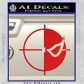 Deathstroke emblem DLB Decal Sticker Red Vinyl 120x120