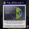 Deathstroke emblem DLB Decal Sticker Sparkle Glitter Vinyl 120x120