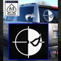 Deathstroke emblem DLB Decal Sticker White Emblem 120x120