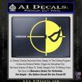 Deathstroke emblem DLB Decal Sticker Yelllow Vinyl 120x120