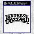 Dukes of Hazzard T1 Decal Sticker Black Logo Emblem 120x120