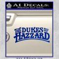 Dukes of Hazzard T1 Decal Sticker Blue Vinyl 120x120