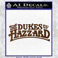 Dukes of Hazzard T1 Decal Sticker Brown Vinyl 120x120