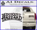 Dukes of Hazzard T1 Decal Sticker Carbon Fiber Black 120x97