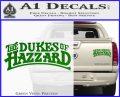 Dukes of Hazzard T1 Decal Sticker Green Vinyl 120x97