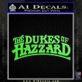 Dukes of Hazzard T1 Decal Sticker Lime Green Vinyl 120x120
