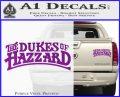 Dukes of Hazzard T1 Decal Sticker Purple Vinyl 120x97