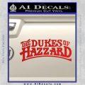 Dukes of Hazzard T1 Decal Sticker Red Vinyl 120x120
