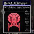 Enterprise NX 01 Decal Sticker Star Trek Pink Vinyl Emblem 120x120