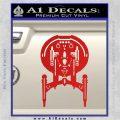 Enterprise NX 01 Decal Sticker Star Trek Red Vinyl 120x120