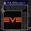 Eve Online Logo Decal Sticker Orange Vinyl Emblem 120x120