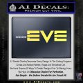 Eve Online Logo Decal Sticker Yelllow Vinyl 120x120