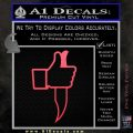 Facebook Like Knife Decal Sticker Pink Vinyl Emblem 120x120