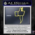 Facebook Like Knife Decal Sticker Yelllow Vinyl 120x120