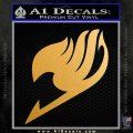 Fairy Tail Logo Decal Sticker Metallic Gold Vinyl Vinyl 120x120
