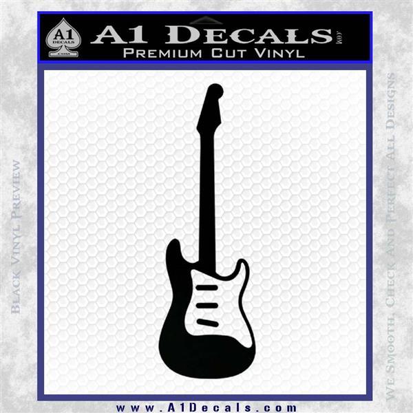Fender Stratocaster Style Guitar Decal Sticker VZL Black Logo Emblem