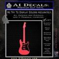 Fender Stratocaster Style Guitar Decal Sticker VZL Pink Vinyl Emblem 120x120