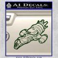 Firefly Serenity Ship Decal Sticker Dark Green Vinyl 120x120