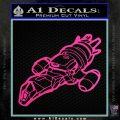 Firefly Serenity Ship Decal Sticker Hot Pink Vinyl 120x120