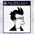 Futurama Fry Decal Sticker DP Black Logo Emblem 120x120