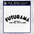 Futurama Title Decal Sticker Black Logo Emblem 120x120