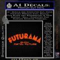 Futurama Title Decal Sticker Orange Vinyl Emblem 120x120