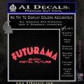 Futurama Title Decal Sticker Pink Vinyl Emblem 120x120