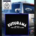 Futurama Title Decal Sticker White Emblem 120x120