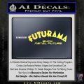 Futurama Title Decal Sticker Yelllow Vinyl 120x120