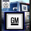 GM General Motors Decal Sticker SQ White Emblem 120x120