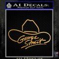 George Strait Decal Sticker Cowboy Hat Metallic Gold Vinyl Vinyl 120x120